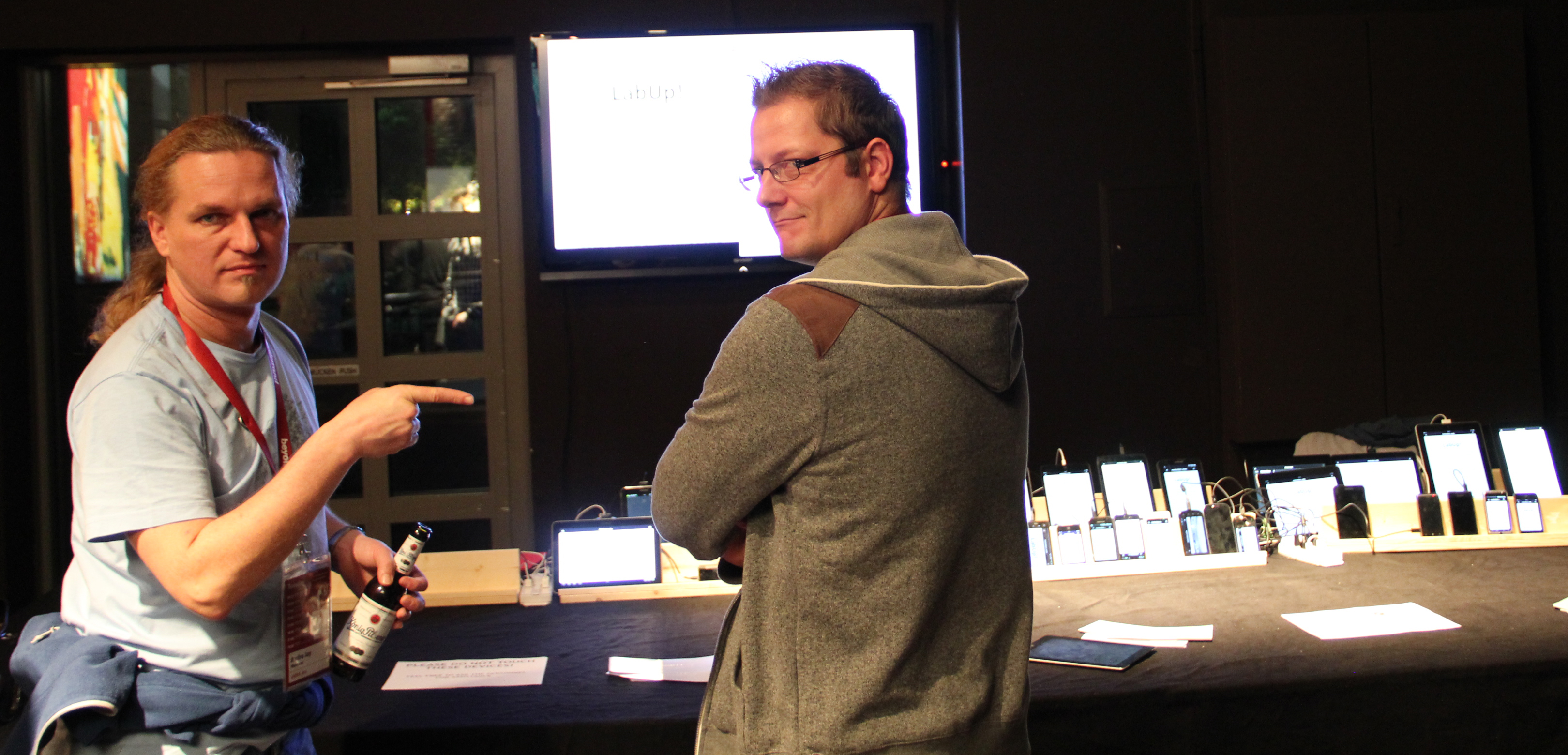 Jay (@klick_ass) and Sven (@maddesigns) at the @btconf-ODL